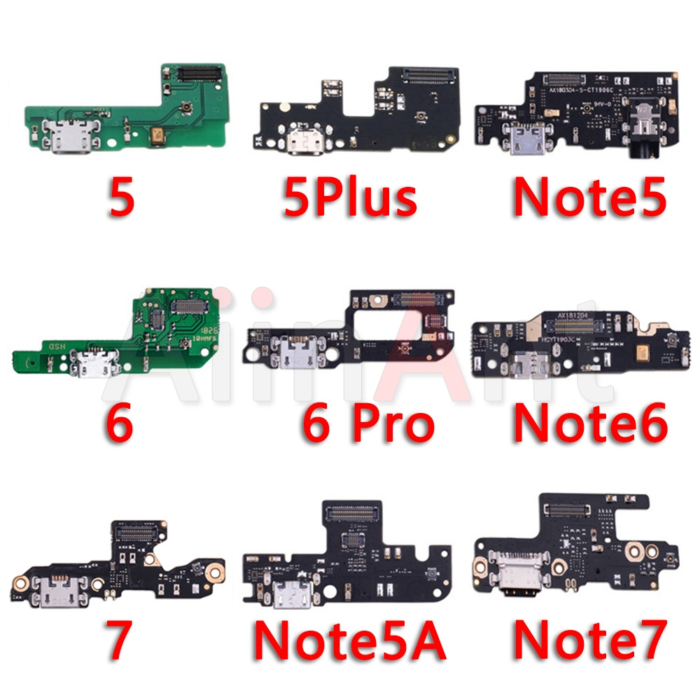Original USB Date Charging Port Charger Dock Connector Flex Cable For Xiaomi Mi Redmi Note 5 5A 6 7 Plus Pro Global Repair Ports