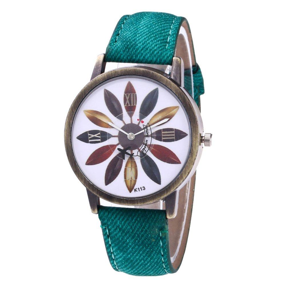Women Leather Analog Quartz Wrist Watch Woman Watches Luxury Reloj-hombre Watch For Demin Strap Fashion Trendcy