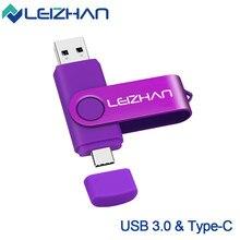 Clé USB 3.0 OTG haute vitesse de Type C, support à mémoire de 16 GB 32 GB 64 GB 512 256, lecteur Flash pour ordinateur et téléphone, nouveauté