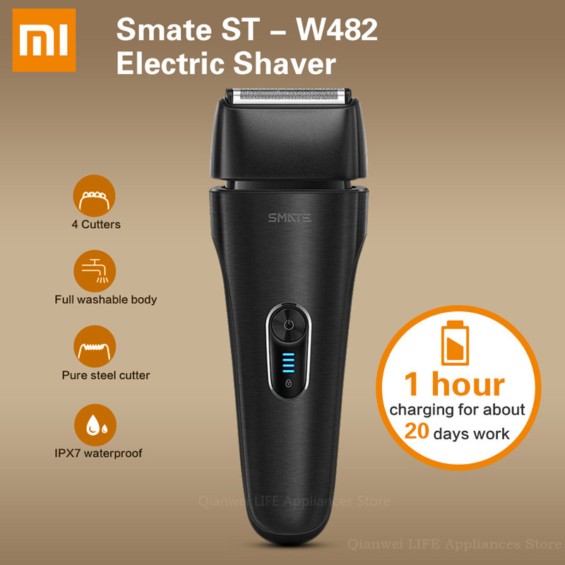 Xiaomi SMATE ST-W482 Electric Shaver Rechargeable 4 Floatable Cutters Full Waterproof Body Fast Charge Shaving Beard Machine