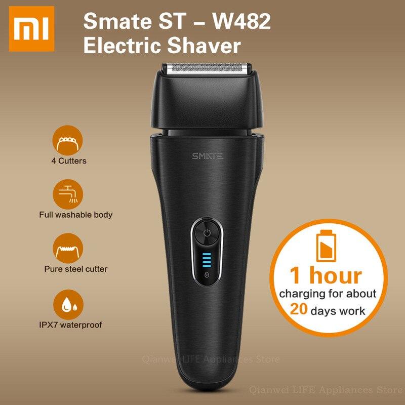 Xiaomi SMATE ST-W482 rasoir électrique Rechargeable 4 fraises flottantes complet étanche corps Charge rapide rasage barbe Machine