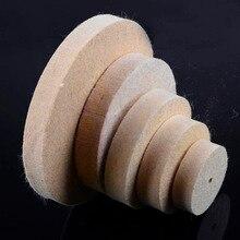 Polimento de moagem polimento roda redonda almofada feltro lã + 1 haste 3.2mm haste superfície metal para dremel ferramentas rotativas acessórios