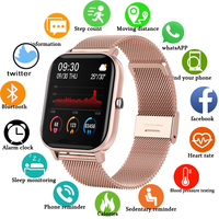 Nuevo reloj inteligente damas multifuncional deportes de sangre presión impermeable reloj deportivo de smart watch para los hombres y las mujeres + caja