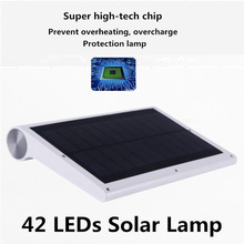 42LED Solar Powered PIR Motion Sensor Wall Light Waterproof IP65 Outdoor Garden body sensor Lamp Energy saving LED light