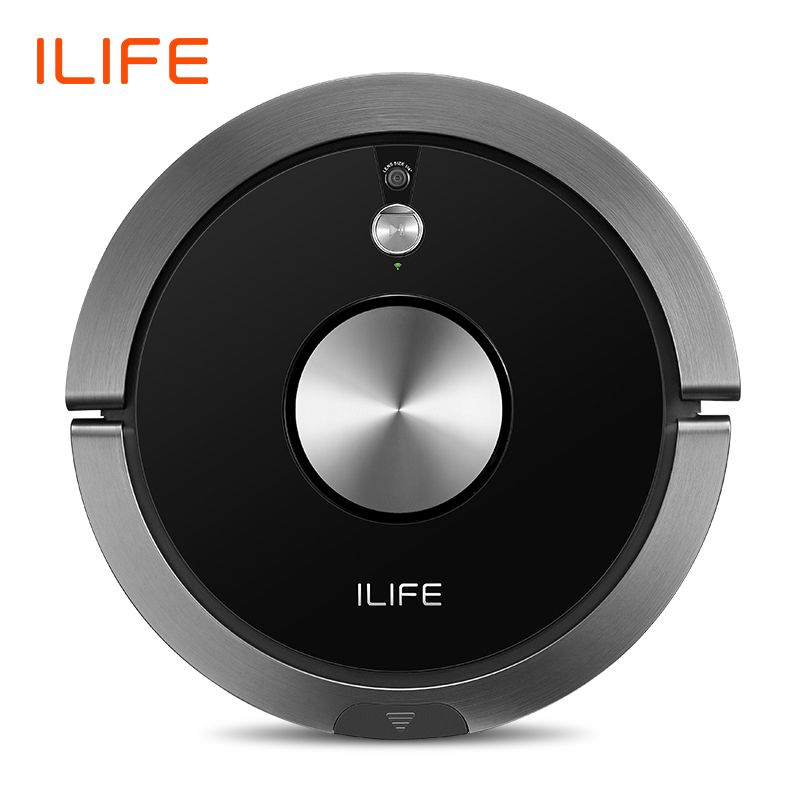 ILIFE A9s Robot Vacuum Cleaner Vacuuming & Wet Mopping Smart APP Remote Control Camera Navigation Planned Cleaning Large Dustbin 3 in 1 corner rounder