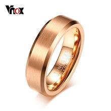 Vnox – bague de mariage en tungstène pour homme, anneau Simple, couleur or Rose, Surface mate, classique, décontracté, bijoux taille américaine 8 9 10 11 12