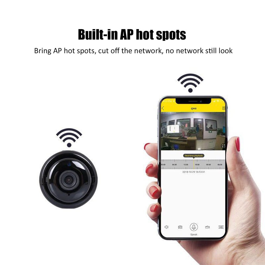 Wireless Mini IP Camera  960P HD IR Night Vision Micro Camera Home Security Surveillance WiFi Baby Monitor Camera