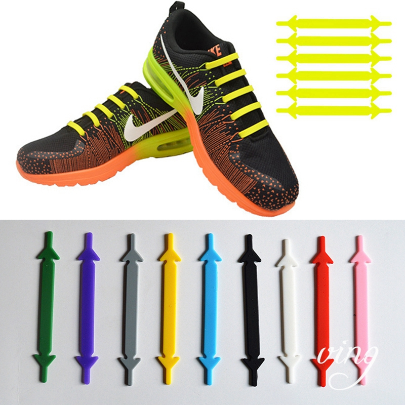 Silicone Shoelaces Elastic No Tie Shoe Laces Fashion Leisure Sneakers Lazy Laces Unisex Convenience Quick Flat Shoe Lace