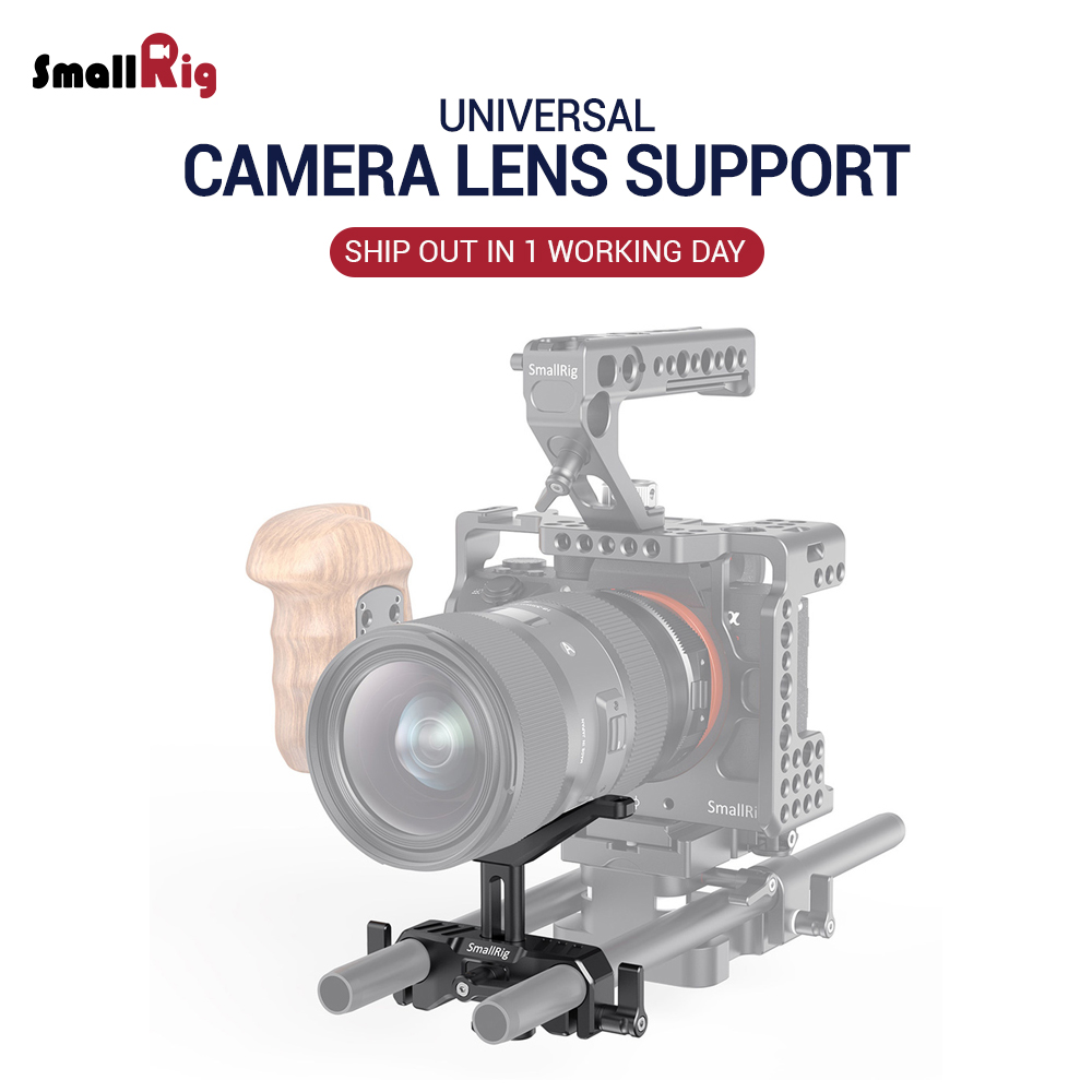 SmallRig 15mm LWS Universal Lens Support For Camera Long Lens Support Hight Adjustable DSLR Camera Rig Lens Adapter 2680