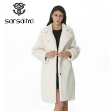 Winter Wool Coat Women Wool Fur Jacket Female Long Woolen Co