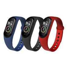 Pulsera inteligente M4 con Control remoto, pulsera deportiva con Control de la presión arterial, el ritmo cardíaco y la salud, Cuenta de pasos