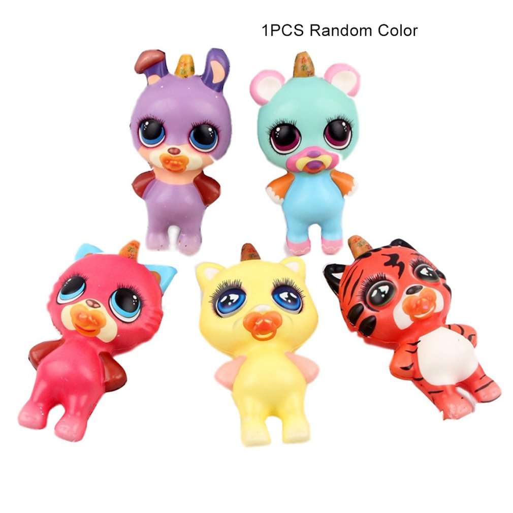 HotSimulated Cartoon Animal Doll Slow Rebound Decompression Toy Foam Decoration Foam Relaxed Toy Cake Sample Model