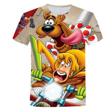 Summer Clothes For Girls Short Sleeve Boys T Shirt Costume Scooby-Doo Cartoon Animal T-shirt Toddler Baby Kids Clothes 4T-14T