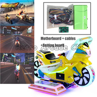 Amusment Equipment KitFast Moto 3 kids motorcycle racing 3d Video game arcade machine motherboard with wires cables Kit for DIY