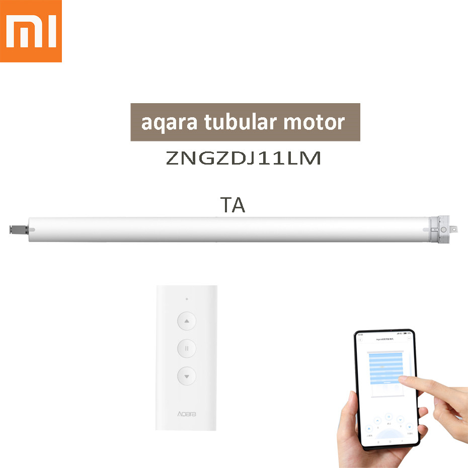Aqara Intelligent Rolling Shutter Motor,Mi Home App Zigbee Tubular Motor For Blinds, Aqara ZNGZDJ11LM For Xiaomi Smart Home