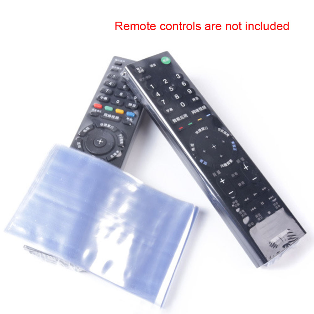 10pcs Case Television Accessories Sleeve Heat Shrink Film Durable Storage Bag Home Remote Controller Waterproof Protective Cover
