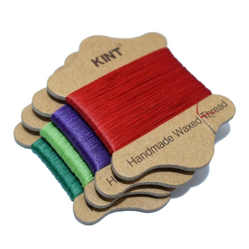 10pcs/lot 0.45mm 20m Round Wax Line Waxed Thread Wire Hand Sewn Leather Handbag Sofa Jacket Nylon Thread Craft