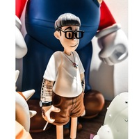 Popular logo action figure hand set toy doll model play flower arm handsome personality glasses male soldier person