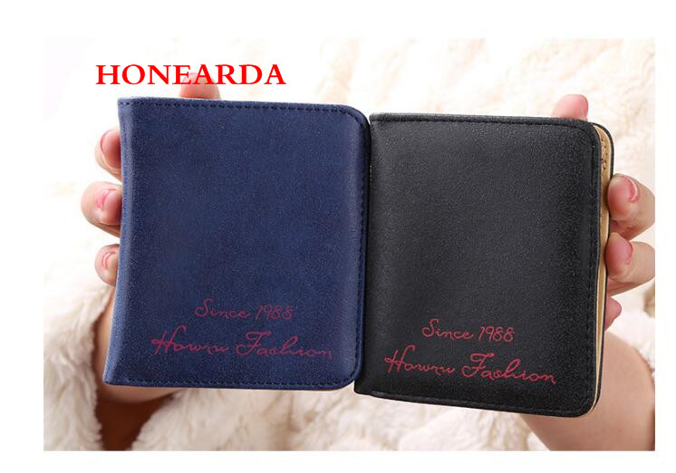 Wholesale Women Wallets Short PU Leather Female Purses Small Wallet Coin Purse 500PCS/lot