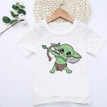 Kids Children Baby Yoda Angel Printed T-shirt