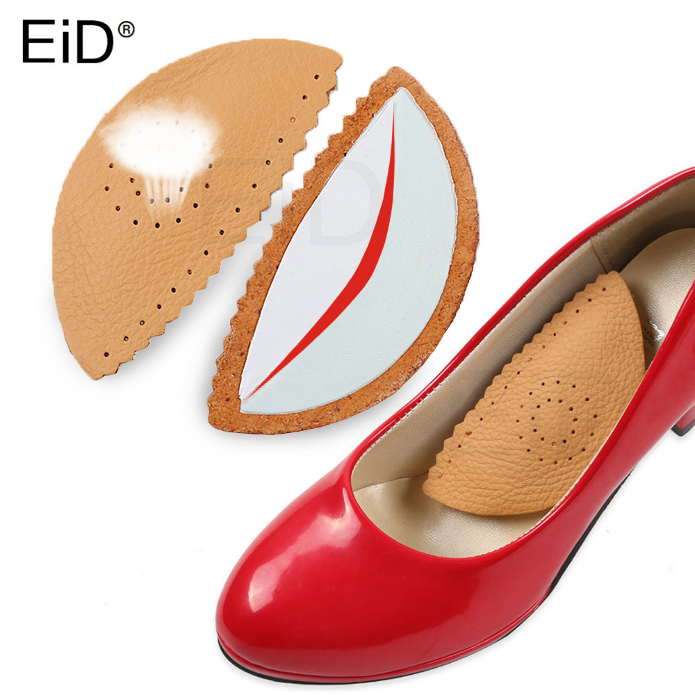 EiD Leather Arch Supports Forefoot Pads For Women High Heels Sandals Insert Half Yard Pad Massage Foot Care Shoes Insoles Sole