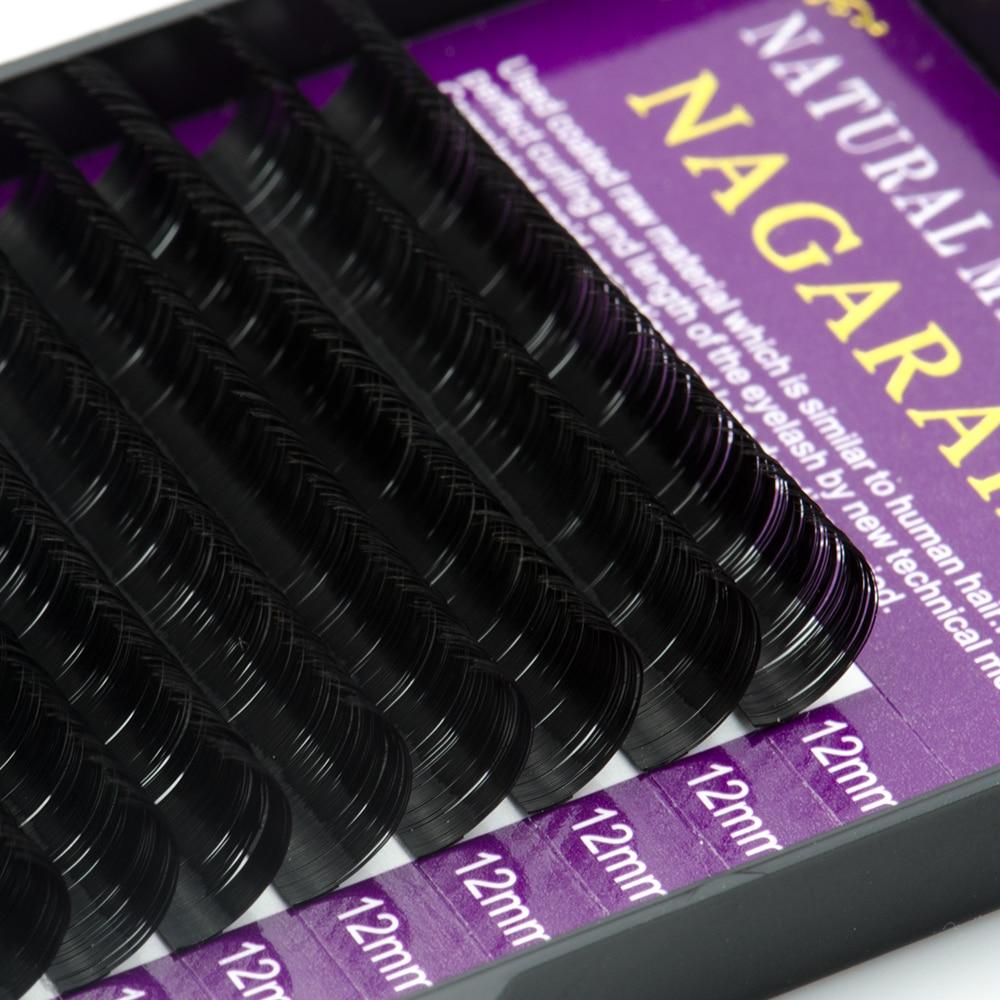 Image 5 - NAGARAKU All Size 20 Cases J B C D Curl Individual Eyelashes Faux Mink Eyelash Extensions Artificial Fake False Eyelashes-in False Eyelashes from Beauty & Health