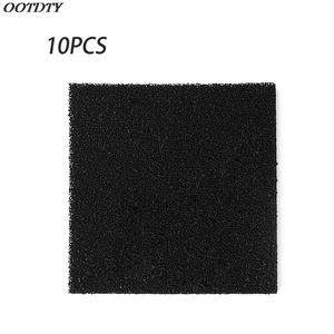 10pcs High Density Activated Carbon Foam Black Filter Solder Smoke Absorber ESD Fume Extractor 13cm for Air Filtration Tools(China)