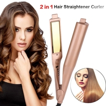2 in 1 Hair Curlers Straightener Perm Styling Rolloer Styler