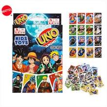 Mattel-Juego de cartas de One Piece, juego de mesa de cartas