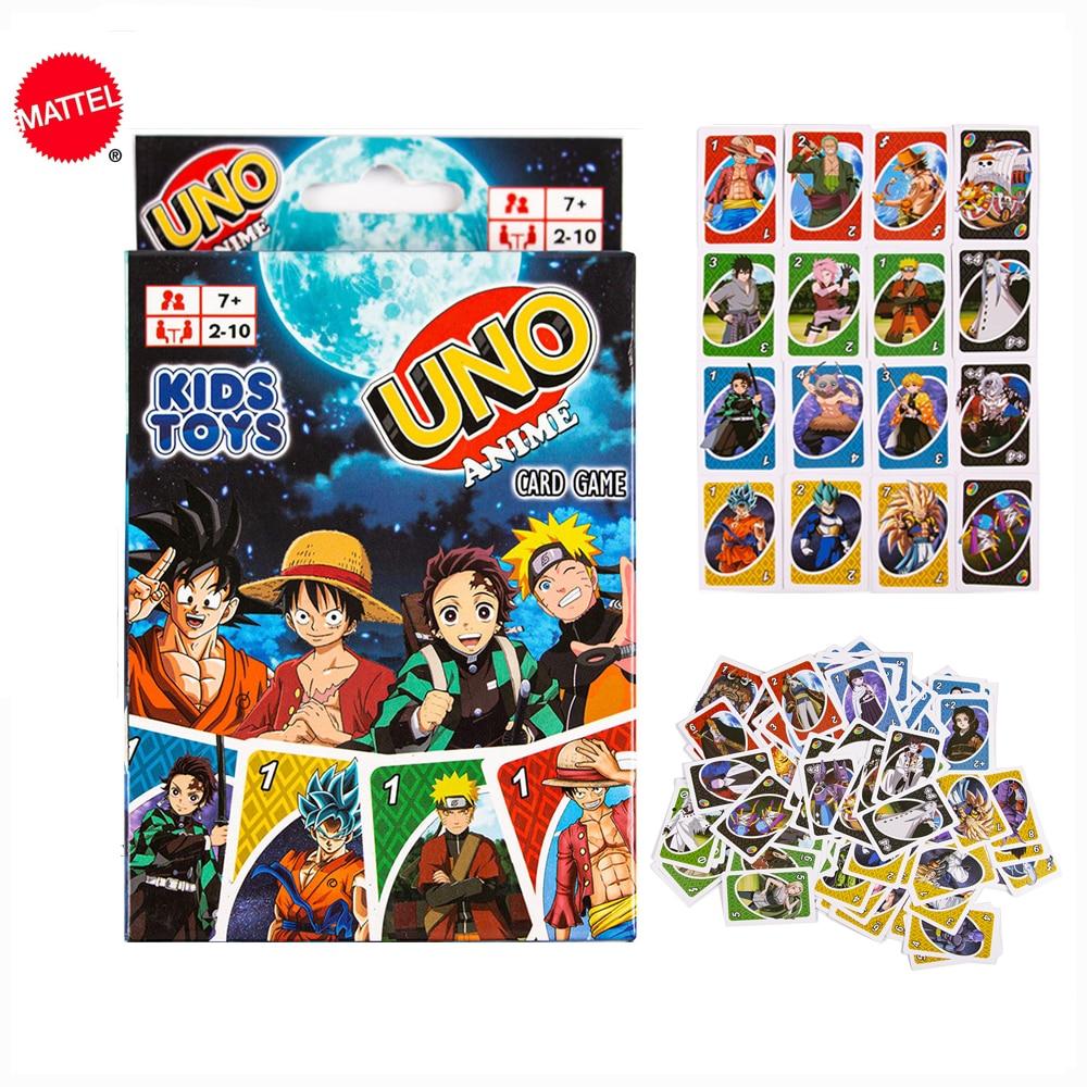 Mattel карточные игры UNO аниме Рисунок Одна деталь Fun покер Семья вечерние Настольная игра карты вечерние игрушки Игры для вечеринки      АлиЭкспресс