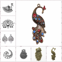 Malzahar Creation akcesoria do biżuterii dokonywanie elementy biżuterii do wyrobu biżuterii naszyjnik łańcuszkowy Peacock Phoenix tanie tanio CN (pochodzenie) Ze stopu cynku Animals jewelry findings components Metal BOHEMIA hand made jewelry accessories parts mix jewelry findings components