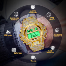 Relogio Masculino MISSFOX Men's Watches Luxury LED Digital Quartz 18K Gold Watch Men G Style Shock Proof AAA Male Wrist Watches(China)