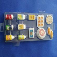 12 Packs Miniature Plastic Milk Food Tableware Playset Kitchen Dollhouse