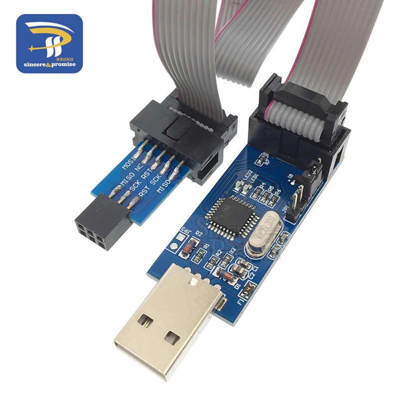 USB-программатор, 10Pin-6 Pin адаптер + USB-программатор USB ATMEGA8 ATMEGA128 ATtiny/CAN/PWM 10-контактный модуль для самостоятельной сборки