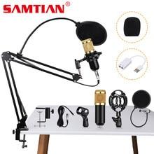 SAMTIAN profesjonalny mikrofon BM 800 mic mikrofon studyjny stojak pojemnościowy nagrywanie wokalne KTV mikrofon do Karaoke na komputer stancjonarny