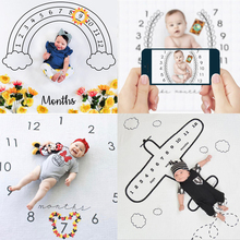 2020 Baby Milestone Blanket Newborn Photography Photo Props Cartoon Animal Toddler Memorial Day Monthly Background Cloth