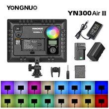 YONGNUO YN300AIR II RGB LED 카메라 비디오 라이트, 충전기 키트가있는 옵션 배터리 사진 조명 + AC 어댑터
