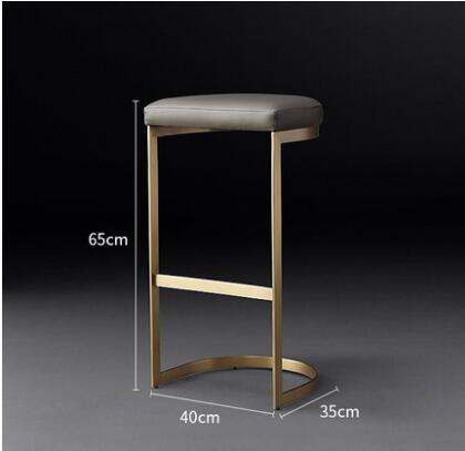 Nordic Bar Stool Casual Iron Bar Chair Simple Modern Restaurant Bar Stool Bar Chair