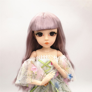 Image 5 - 42 Cm Bjd Doll 24 Ball Jointed Doll DIY Naked Body Curly Straight Hair Girls Gift with 3D Eyes Head Dolls Toys for Girls