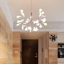 Современные ветка светодиодный Люстра золотой черный гостиной