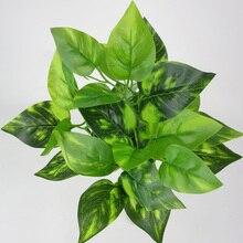 7 Heads Artificial Fake Hanging Vine Green Plant Leaf Home Garden Desk Decor