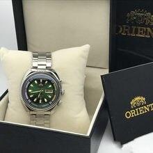 Orient-duplo leões relógio automático masculino mecânico inglês semana & data funções relógio luminoso de alta qualidade final relógios masculinos