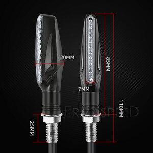 Image 5 - Motorfiets Led Verlichting Richtingaanwijzer Motor Lamp Sequentiële Blinker Flasher Mini Motorfiets Led Indicatoren Voor Yamaha Mt07