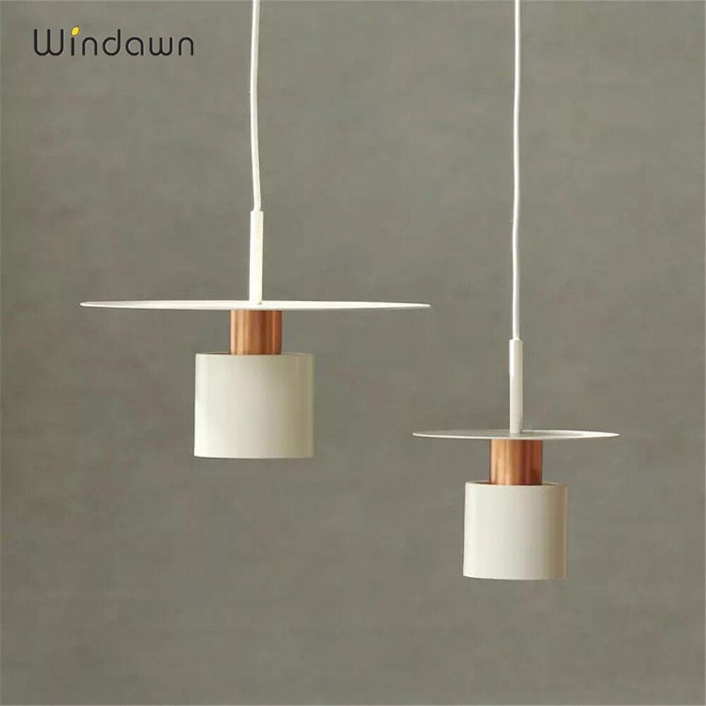 Işıklar ve Aydınlatma'ten Kolye ışıkları'de Windawn İskandinav kolye işıkları demir kolye lamba modern başucu lambası otel yatak odası oturma odası ofis asılı lamba title=