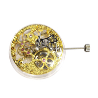 Vintage Full Skeleton Gold Plated 17 Jewels Hand Winding Movement For ETA 6497 Watch Repair Tool Parts Replacement