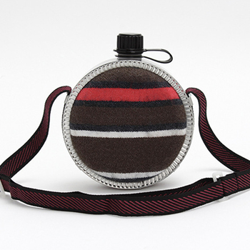2L большой емкости чайник регулируемый ремень столовая Войлок путешествия полосатый бутылка для воды портативный Туризм Открытый теплоизо...