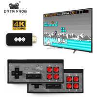 Données grenouille USB sans fil portable TV Console de jeu vidéo construire en 600 jeu classique 8 bits Mini Console vidéo soutien AV/HDMI sortie