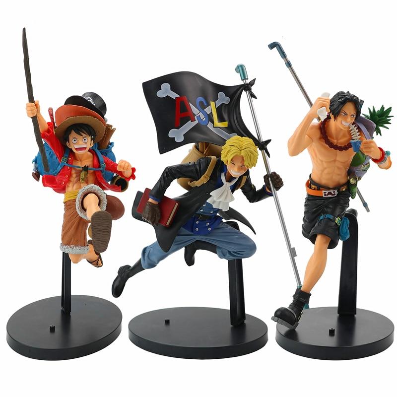 Figura de anime nuevo de una pieza figura de Luffy figurita Sabo Figur Ace figuras de acción juguetes de modelos de colección de PVC regalos