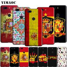 Yimaoc Spain Flag Spanish Silicone Case for Oneplus 7 Pro 6t 6 5t 5(China)