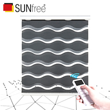 Motorized Blinds Waves-Fabric Blackout Lithium-Battery-Motor Window Smart Fashion